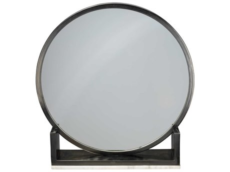 Jamie Young Company Odyssey Antique Iron & Marble 24'' Round Dresser Mirror