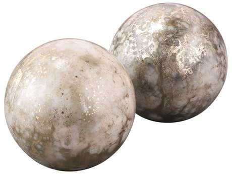Jamie Young Company Orion Orb Silver & Gold Bookends (Set  of 2)