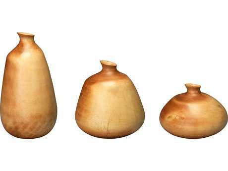 Jamie Young Company Organic Natural Mango Wood Vases (Set of 3) JYC7ORGAVAMA