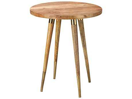 Jamie Young Company Owen 19'' Round Natural Wood Side Table JYC20OWENSTNA
