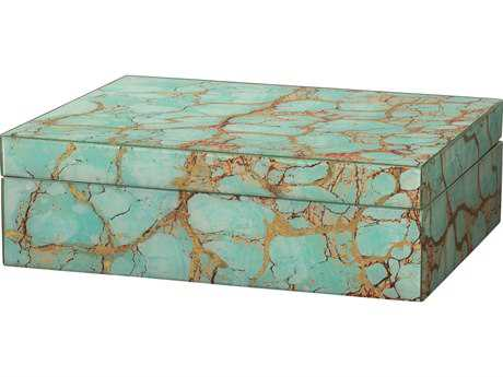 Jamie Young Company Turquoise Pebble Rectangle Box JYC7BOXTUPB