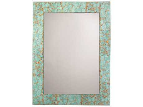 Jamie Young Company Turquoise Pebble 36''W x 48''H Rectangular Wall Mirror