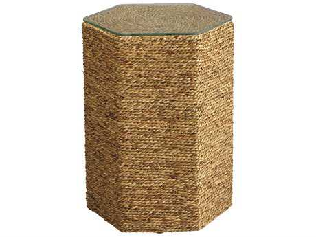 Jamie Young Company Peninsula Natural Sea Grass 14.5''L x 13''W Hexagon End Table JYC20PENISTNA
