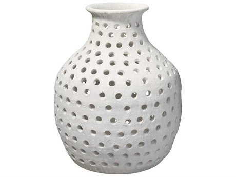 Jamie Young Company Porous Matte White Ceramic Small Porous Case JYC7PORUSMWH
