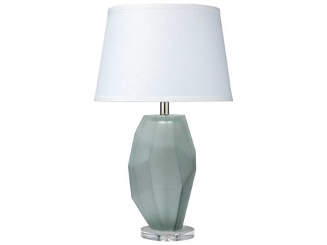 Jamie Young Company Prism Frosted Grey Glass Table Lamp JYC9PRISFGC131M