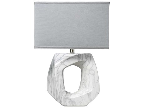 Jamie Young Company Quarry Marbled Ceramic Table Lamp JYC9QUARMAR210M
