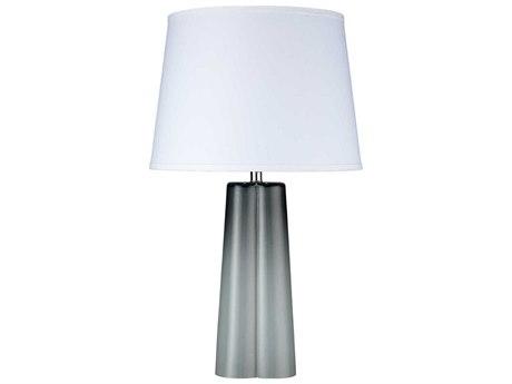 Jamie Young Company Quatrefoil Cool Grey Glass Buffet Lamp JYC9QUATGRC131L