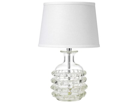 Jamie Young Company Ribbon Clear Glass Table Lamp with Cone Shade JYC9RIBBCLC131S