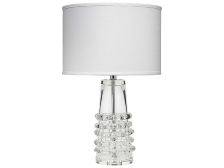 Jamie Young Company Ribbon Clear Glass Table Lamp with Drum Shade JYC9RIBTCLD131M