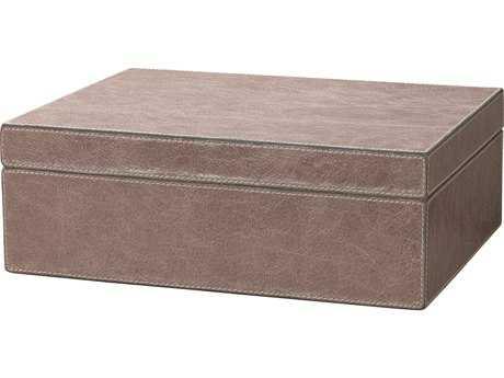 Jamie Young Company Sebastian Taupe Leather Rectangular Box JYC7SEBABOTA