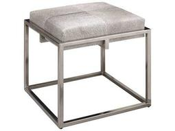 Shelby 18'' Grey Leather Stool