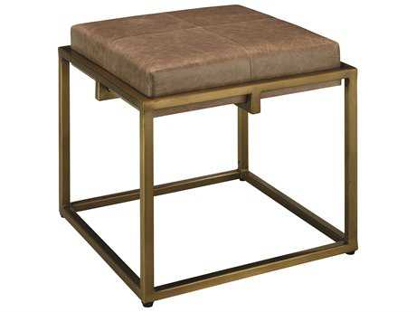 Jamie Young Company Shelby 18'' Taupe Leather Stool JYC20SHELSTTA
