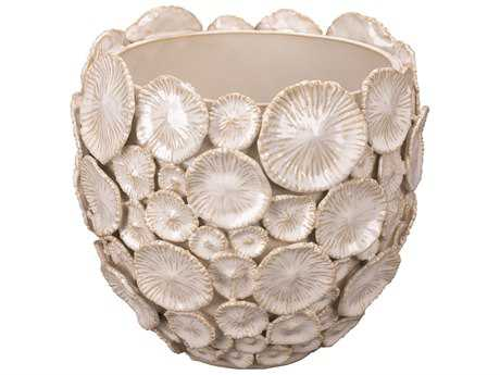 Jamie Young Company Siren White Ceramic Floral Vessel JYC7SIREVEWH