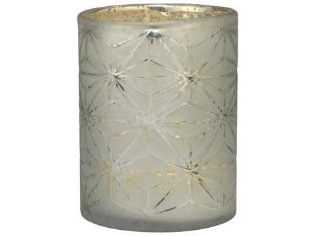 Jamie Young Company Snowflake Glass Hurricanes (Set of 3) JYC7SNOWSMMG