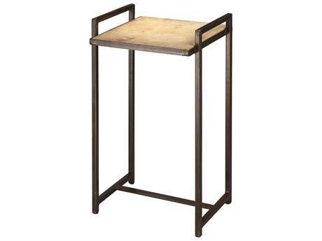 Jamie Young Company Steel Vellum 13.25'' Square Gun Metal Side Table JYC20STEERCGM