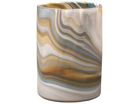 Jamie Young Company Terrene Grey Swirl Glass Medium Vase