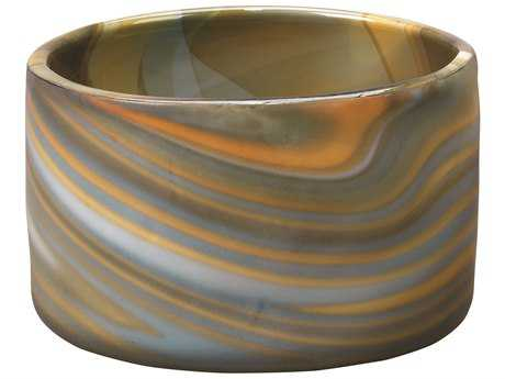 Jamie Young Company Terrene Grey Swirl Glass Small Vase JYC7TERRSMGR