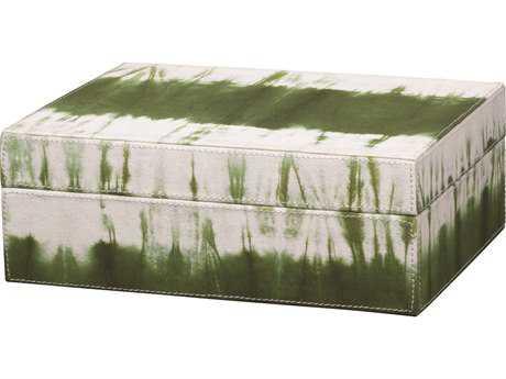 Jamie Young Company Tie Dye Olive Box JYC7TIEDBOOL