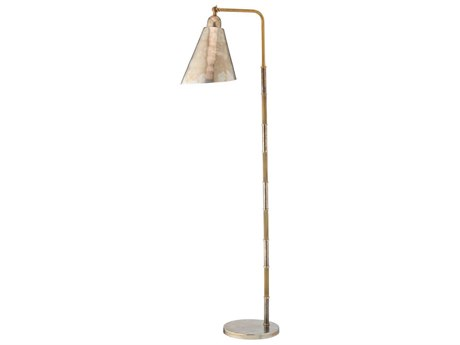Jamie Young Company Vilhelm Antique Brass & Antique Silver Floor Lamp JYC1VILHFLAB