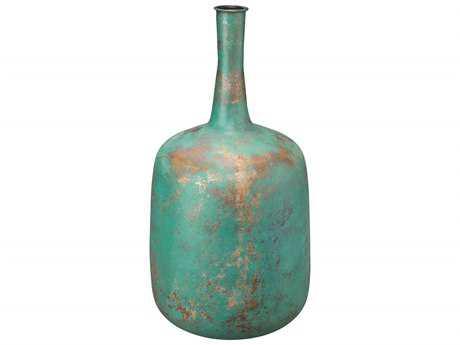 Jamie Young Company Zeus Green Patina Handcrafted Vase JYC7ZEUSVAGP