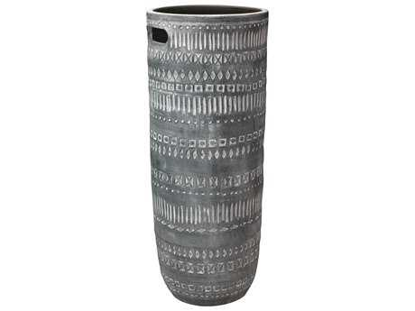 Jamie Young Company Zion Large Grey & White Vase JYC7ZIONLGGR