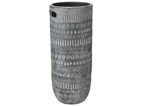 Jamie Young Company Zion Small Grey & White Vase JYC7ZIONSMGR