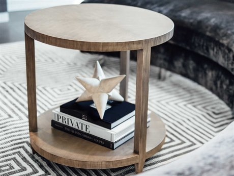 JKM Home Edward 26'' Wide Round End Table