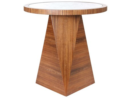 JKM Home Hutton 28'' Wide Round Pedestal Table