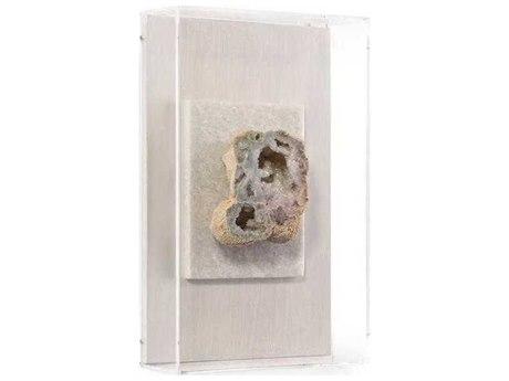 John Richard Crystalline White Geode II Shadow Box JRGBG1485B