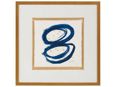 John Richard Abstract Dyann Gunter's Blue & Gold I Wall Painting JRGBG1055A