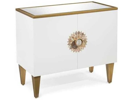 John Richard Accent Cabinets Ice White Chest