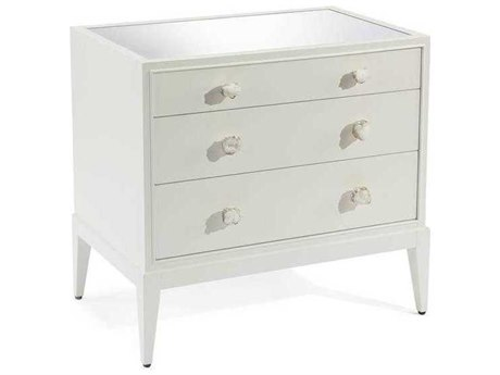 John Richard Accent Cabinets Ice White 3 Drawers or less Chest of
