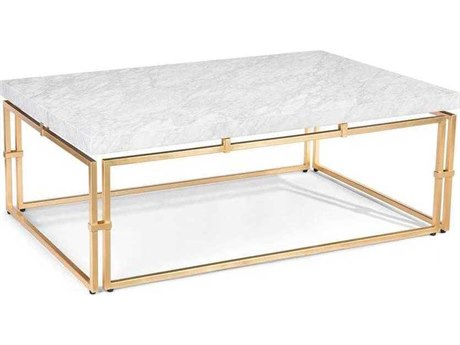 John Richard Calabria Gold 52'' x 34'' Rectangular Cocktail Table