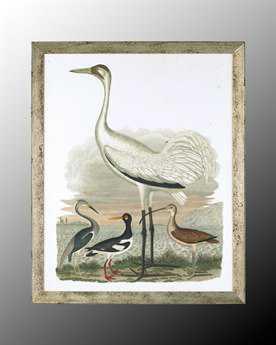 John Richard Large Heron Family II Painting JRGRF4401B