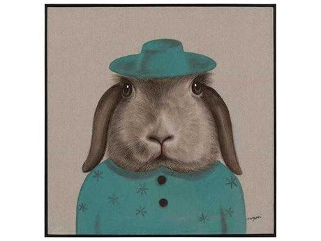 John Richard Teng Fei's Sapphire Hare Painting