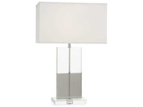 John Richard Win-Win Polished Nickel Buffet / Table Lamp with Crystal Base JRJRL9588