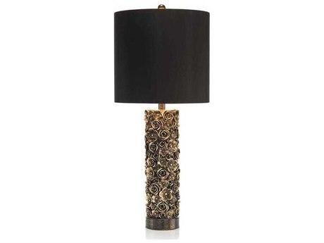 John Richard Distressed Blooms Gold Buffet / Table Lamp JRJRL9596