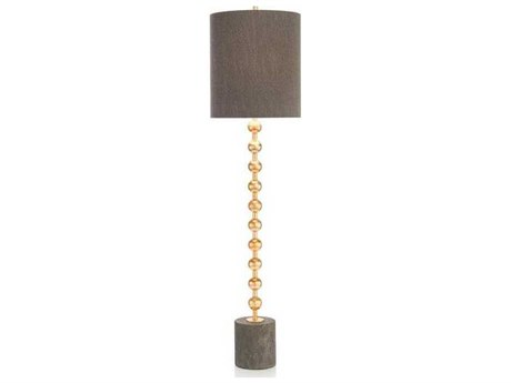 John Richard Orb Gold Leaf Buffet Lamp JRJRL9600