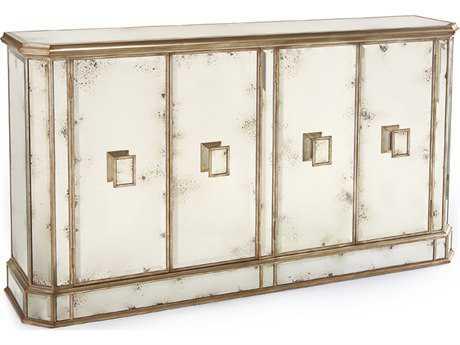 John Richard Juno Foxed 74 x 18 Mirror Four-Door Credenza JREUR040169