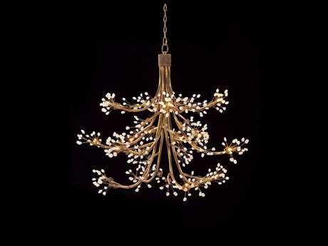 John Richard Halogen Antique Gold 14-Light 50'' Wide Chandelier JRAJC8772
