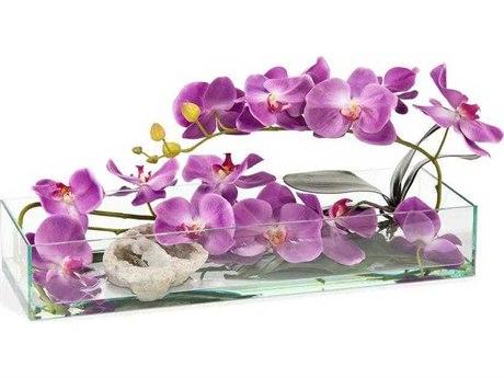 John Richard Geode and Orchids Floral Arrangement JRJRB3934W
