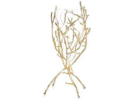 John Richard Gold Twig With Clear Vase JRJRA10379
