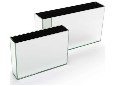 John Richard Rectangle Mirror Containers Two-Piece Decorative Accent Set JRJRA10645S2