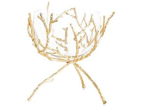 John Richard Gold Twig With Clear Bowl JRJRA10378
