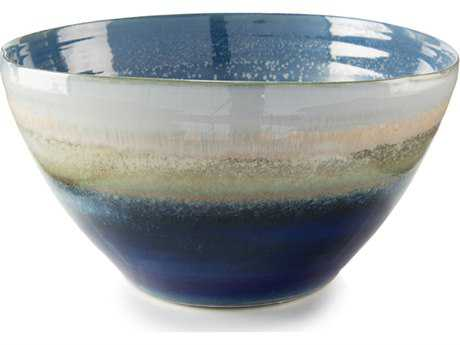 John Richard Reactive Blue & Cream Bowl JRJRA10180