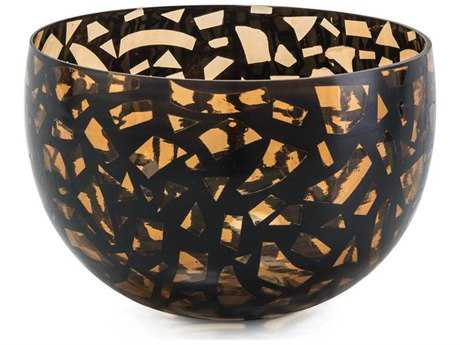 John Richard Confetti Amber & Black Bowl JRJRA10318