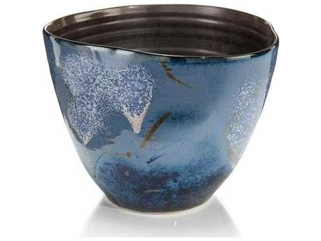 John Richard Blue Sky White Clouds I Decorative Bowl