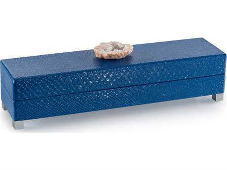 John Richard Indigo Blue Box with Stone Accent Jewelry Box JRJRA9867