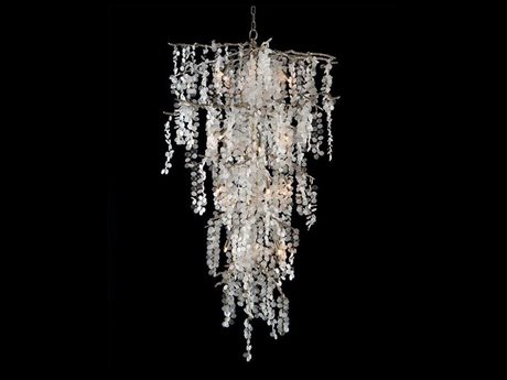 John Richard Shiro-Noda Dramatic Glass Cluster Twenty-One Light  Chandelier JRAJC9107