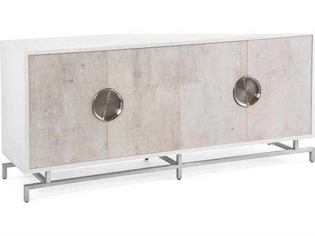John Richard Dante Beluga White 78'' x 19'' Four-Door Credenza JREUR040361